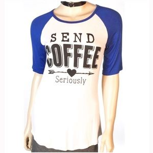 SEND COFFEE - Seriously BASEBALL TEE